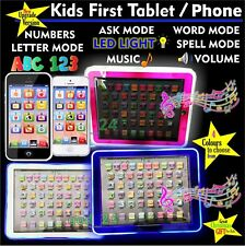 LED LIGHT UP - Kids Tablet PAD TAB Educational Toy Fun Xmas Gift for Girls Boys