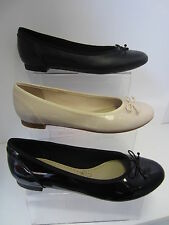 Ladies Black/Nude Pink Slip On Clarks Shoes UK Sizes 4 - 8 Couture Bloom