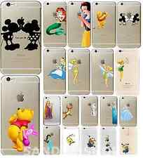 Disney Princess Character Hard Cover Case Mermaid Minion For iPhone 4s 5s 6s 7+