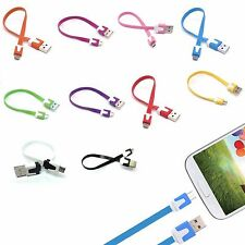 20cm Micro USB Data Sync Charger Cable For Samsung Galaxy Note 2 3 4 5 S5 S6 S7