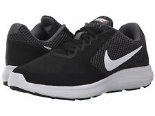 Nike REVOLUTION 3 Womens Black 001 Mesh Lace Up Athletic Running Trainer Shoes
