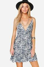 Boohoo Womens Lola Paisley Skater Dress