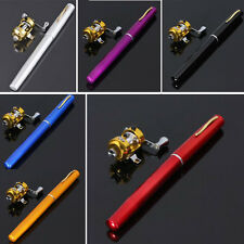 Mini Portable Pocket Fish Pen Tool Fishing Rod Pole Reel Combos 6 Colors fishing