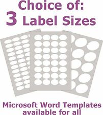 Removable Low Tack Labels Oval Matt White Laser Inkjet Stickers 5 A4 Sheets