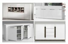 White Gloss Sideboard Lounge Dining Room Furniture Buffet Storage Cupboard