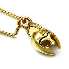 Vogue Stainless Steel Gold Roman Soldier Helmet Mens Pendant Necklace With Chain