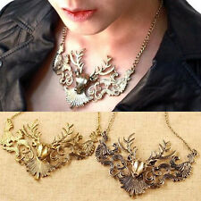 Fashion Women Deer Head Chain Necklaces Vintage Deer Head Pendant Necklace