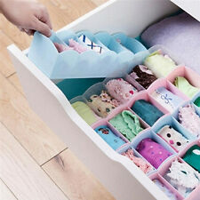 P&T 5 Grid Organizer Tie Bra Socks Drawer Cosmetic Divider Plastic Storage Box