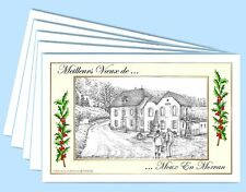 MV 58245 - 5 CARTES DE VOEUX (6 versions) 58 MOUX EN MORVAN