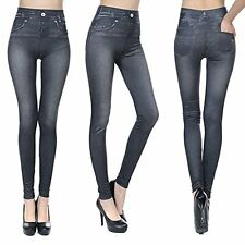Fashion Jeans for Women, Leggings with Denim Jeans Wash, Stretch Pants, Jeggings