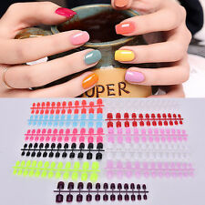 24 Pcs Pre-Design Women Fake French Full Nail Plastic DIY False Nail Tips