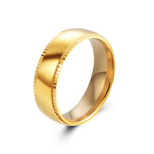 Gold Filled Couple Mens Womens Smooth Promise Wedding Rings Size 7 8 9 10 11
