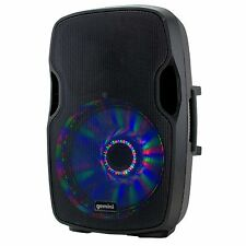 "Gemini AS-15BLU-LT Active Speaker with 15"" Woofer, LED Array, & Bluetooth Disco"