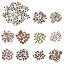 20PCS Christmas Mixed Wooden Buttons Xmas Pattern Sewing 2-Hole 25mm
