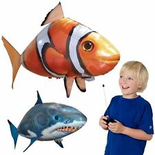 RC Air Swimmers Remote Control Flying Clownfish Shark Inflatable Balloon BT0003