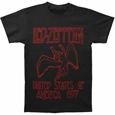 Led Zeppelin USA 1977 Red Lettering Soft T-Shirt SM, MD, LG, XL, XXL New