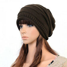 Men Women Unisex Knit Baggy Beanie Winter Hat Ski Slouchy Chic Knitted Cap Beret
