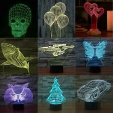 3D illusion bulbing Night 7 color change Touch switch table desk lamp LED light