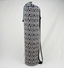Black&White Yoga/Pilates Mat Bag with Adjustable Carry Strap Fits Mat 6mm Thick