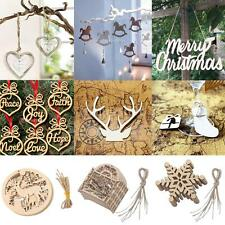 25/10/6pcs Mix Styles Christmas Mini Wooden Hanging Signs Tree Decoration