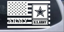 US American Flag Army Car or Truck Window Laptop Decal Sticker Military 12X18.8