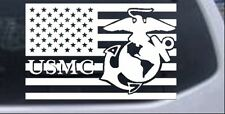 US American Flag USMC Marines Car or Truck Window Laptop Decal Sticker 12X18.8