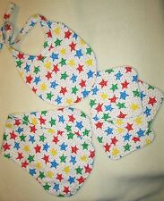 Infant Bib, Burp Cloth and Matching Wipes (set of 3) Baby Layette Set 3pc