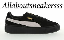 Puma Suede Platform Core Black-White-Black  - Women Shoes 364718 03