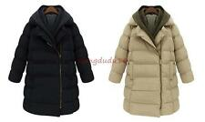 Womens Long Jacket Duck Down Winter Outwear Trench Lady Parka Coat