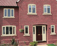 uPVC Windows / White/Grey/Cream/ Black/ Oak/ Mahogany/ Green/ Rosewood