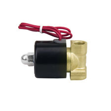"""Brass 1/2"""" or 1/4"""" Electric Solenoid Valve Water Air Fuels Gas NC 110V/220V PICK"""