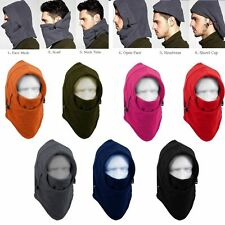 Winter Ski Full Face Mask Cover Hat Cap Motorcycle Thermal Fleece Balaclava Neck