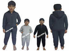 Kids Boys  Plain Hooded Tracksuit Kids Jogging Bottoms &  Hoodie Ages 2-6 Years