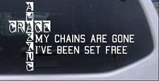 My Chains Are Gone Decal Car or Truck Window Laptop Decal Sticker 4.7X8.5