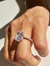 TV REALITY STAR ENGAGEMENT  SILVER STAMPED 925 SPARKLING Simulated  Diamond Ring