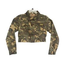 Women Camouflage Jacket Autumn Cropped Coat Vintage Outwear Military Army Coat