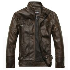 Mens Motorcycle Leather Jackets Jaqueta De Couro Masculina Bomber Leather Jacket