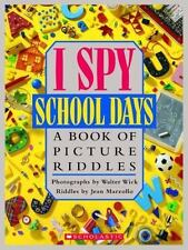I Spy School Days: A Book of Picture Riddles by Jean Marzollo (1995, Hardcover)