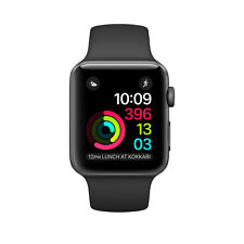 Apple Watch Series 2 - 42mm Space Gray Aluminum Case Black Sport Band NEW SEALED
