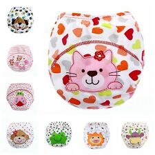 Cartoon Waterproof Reusable Washable Cloth Nappies Potty Training Pants Baby