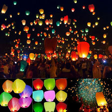 Mix Color Paper Chinese Lanterns Sky Fly Candle Lamp for Wish Wedding 20/50Pcs