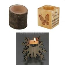 Retro Style Wooden Tea Light Holder Candle Holder Wedding Home Decorations