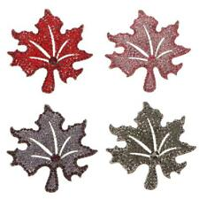 Xmas Winter Maple Leaf Brooch Pin Jewelry Dress Suit Unisex Wedding Gift Party