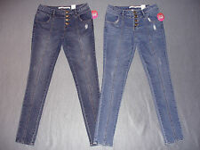 NWT Bongo Womens Junior's High-Waist Distressed Jeggings - U Pick Size + Wash