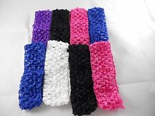 Wholesale24 pcs Girls  Crochet Headband With 1.5 inch Acrylic choose color.