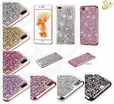 For iPhone 7 Plus 7 Bling Hybrid Glitter Plated TPU Protective Hard Case Cover
