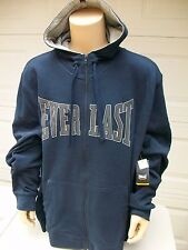 NEW Everlast TALL Mens 3XL 3XLT XXXLT Navy Blue Full Zip Hoodie Sweatshirt NWT