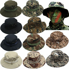 Men Hunting Hat Military Army Cap Boonie Outdoor Hiking Fishing Wide Brim Bucket