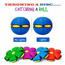 Outdoor Novelty Frisbee Light up Ball Flying UFO Flat Throw Disc Kids Toy Game