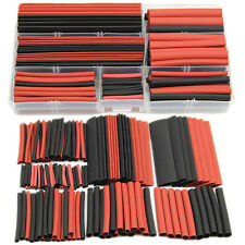 150pcs 2:1 Polyolefin Heat Shrink Tubing Tube Sleeving Wrap Wire Kit Cable VC